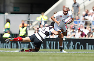 Picture by Andrew Tobin/Focus Images Ltd +44 7710 761829.26/05/2013.Jonathan Joseph of England in action during the match between England and the Barbarians at Twickenham Stadium, Twickenham.