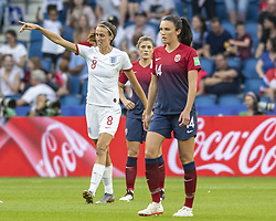 June 27, 2019 - Le Havre, França - LE HAVRE, SM - 27.06.2019: NORWAY VS ENGLAND - Jill Scott of England celebrates after scoring 1-0 during a game between England and Norway. World Cup Qualification Football. FIFA. Held at the Oceane Stadium in Le Havre, France  (Credit Image: © Richard Callis/Fotoarena via ZUMA Press)