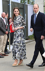 The Duke and Duchess of Cambridge arrive at the RHS Chelsea Flower Show at the Royal Hospital Chelsea, London.