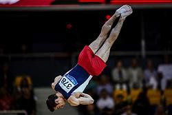November 2, 2018 - Doha, Qatar - Samuel Mikulak of United States   during  Floor for Men at the Aspire Dome in Doha, Qatar, Artistic FIG Gymnastics World Championships on 2 of November 2018. (Credit Image: © Ulrik Pedersen/NurPhoto via ZUMA Press)