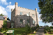 Town museum building at Abergavenny castle, Monmouthshire, South Wales, UK