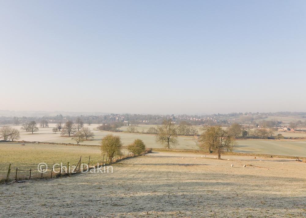 Derwent Valley, looking over fields towards Duffield