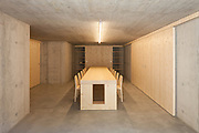 Modern house, wooden interiors dinig room