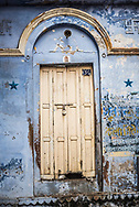 Door on the streets of Varanasi, Uttar Pradesh, India