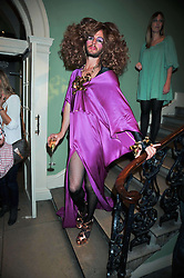 Drag artist JONNY WOO at the launch of Quintessentially Soho at the House of St Barnabas, 1 Greek Street, London on 29th September 2009.<br /> <br /> <br /> <br /> <br /> BYLINE MUST READ: donfeatures.com<br /> <br /> *THIS IMAGE IS STRICTLY FOR PAPER, MAGAZINE AND TV USE ONLY - NO WEB ALLOWED USAGE UNLESS PREVIOUSLY AGREED. PLEASE TELEPHONE 07092 235465 FOR THE UK OFFICE.*