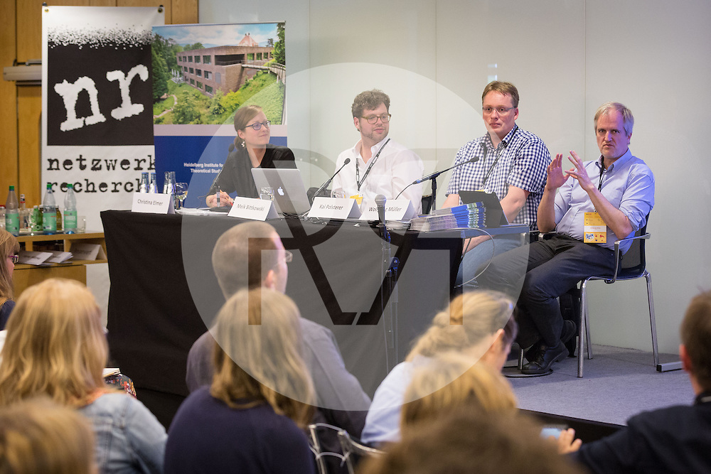 DEUTSCHLAND - HAMBURG - (L-R) Christina Elmer, Meik Bittkowski, Kai Polsterer, Wolfgang Müller, an der netzwerk recherche e.V. Jahreskonferenz 2016 - 09. Juli 2016 © Raphael Hünerfauth - http://huenerfauth.ch