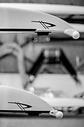 Caversham. Berkshire. UK<br /> Racked Boats, Empacher Logo in the Bow, 2016 GBRowing U23 Trials at the GBRowing Training base near Reading, Berkshire.<br /> <br /> Monday  11/04/2016 <br /> <br /> [Mandatory Credit; Peter SPURRIER/Intersport-images]