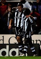 Photo: Jed Wee/Sportsbeat Images.<br /> Newcastle United v Arsenal. The FA Barclays Premiership. 05/12/2007.<br /> <br /> Newcastle scorer Steven Taylor (L) is congratulated by Obafemi Martins.