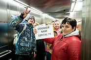 Protest przeciwko przekształceniu Szpitala Wojewódzkiego w Łomży w szpital zakaźny