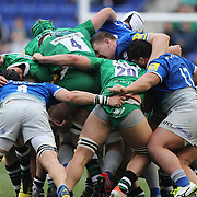 Players in a maul during the London Irish Vs Saracens Aviva Premiership Rugby match, the first Premiership game to be played overseas at Red Bull Arena, Harrison, New Jersey. USA. 12th March 2016. Photo Tim Clayton