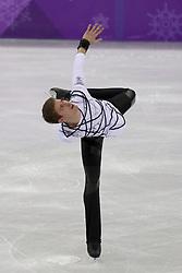 February 17, 2018 - Pyeongchang, KOREA - Morisi Kvitelashvili of Georgia competing in the men's figure skating free skate program during the Pyeongchang 2018 Olympic Winter Games at Gangneung Ice Arena. (Credit Image: © David McIntyre via ZUMA Wire)