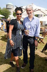 NIMMY MARCH and DAMON HILL at the Cartier 'Style et Luxe' part of the Goodwood Festival of Speed, Goodwood House, West Sussex on 14th July 2013.