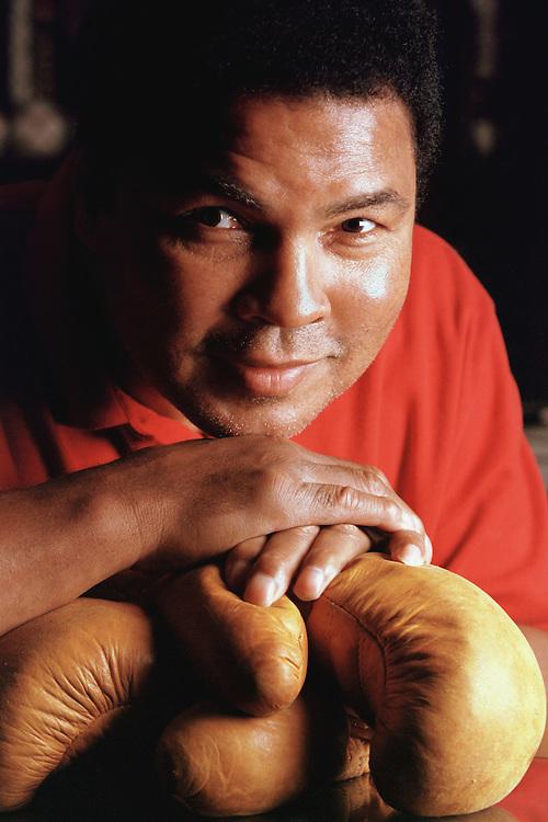 Muhammad Ali at his estate in Berrein Springs, Michigan.