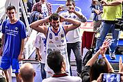 Team Banco di Sardegna Dinamo Sassari, Commando Ultra' Dinamo, Marco Spissu<br /> Banco di Sardegna Dinamo Sassari - Happy Casa Brindisi<br /> LBA Serie A Postemobile 2018-2019 Playoff Quarti di Finale Gara 1<br /> Sassari, 18/05/2019<br /> Foto L.Canu / Ciamillo-Castoria