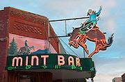 Historic Western Cowboy bar, The Mint Bar, Main Street, Sheridan, Wyoming