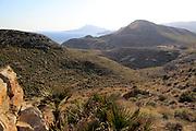 Coastal view westwards, Rodalquilar, Cabo de Gata natural park, Almeria, Spain