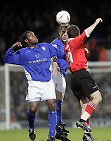 Darren Bent and Tony Thorpe<br /> Ipswich Town v Rotherham United, 05/04/05<br /> Picture by Barry Bland