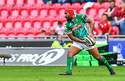 Epalahame Faiva of Benetton Treviso<br /> <br /> Photographer Craig Thomas/Replay Images<br /> <br /> Guinness PRO14 Round 3 - Scarlets v Benetton Treviso - Saturday 15th September 2018 - Parc Y Scarlets - Llanelli<br /> <br /> World Copyright © Replay Images . All rights reserved. info@replayimages.co.uk - http://replayimages.co.uk