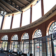 The front entrance of Citi Field features a rotunda named after Brooklyn Dodgers legend Jackie Robinson and honors his life and accomplishments. Robinsons famous quote: A life is not important except in the impact it has on other lives, is engraved into the upper ring of the rotunda during the New York Mets V San Francisco Giants Baseball game at Citi Field, Queens, New York. 21st April 2012. Photo Tim Clayton