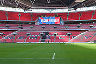 Wembley pitch getting watered during the UEFA Nations League match between England and Croatia at Wembley Stadium, London, England on 18 November 2018.