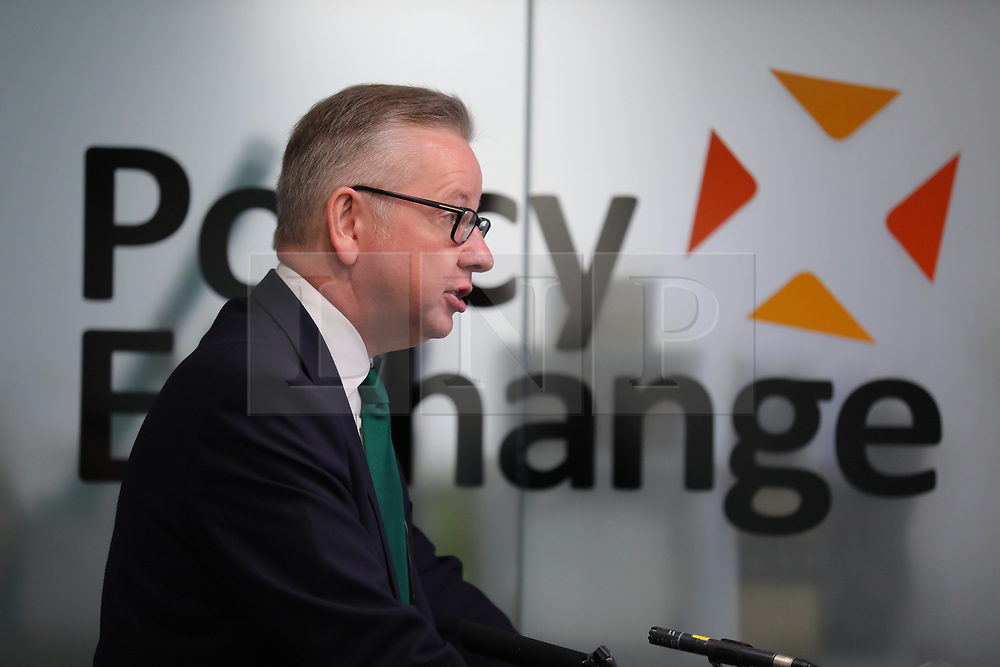 © Licensed to London News Pictures. 06/06/2018. London, UK. The Environment Secretary MICHAEL GOVE gives a speech on 'the right environment for growth - reforming capitalism for the 21st century' at Policy Exchange. Photo credit: Rob Pinney/LNP