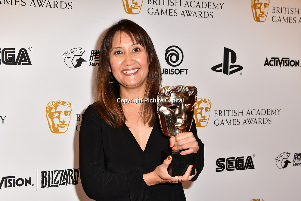 Winner: God of War by Leilani Ramirez at the British Academy (BAFTA) Games Awards at Queen Elizabeth Hall, Southbank Centre  on 4 March 2019, London, UK.