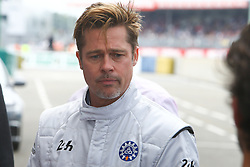 June 18, 2016 - Le Mans, SARTHE, FRANCE - BRAD PITT (USA) ACTOR AND STARTER OF THE LE MANS 24 HOURS 2016 (Credit Image: © Panoramic via ZUMA Press)