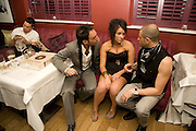 MATHEW FIRST; LAURA WHITE; BRIAN FRIEDMAN, Louis de Bernires - party to promote tourism in the Greek islands. GROUCHO CLUB, DEAN ST. LONDON.  12 November 2008.  *** Local Caption *** -DO NOT ARCHIVE -Copyright Photograph by Dafydd Jones. 248 Clapham Rd. London SW9 0PZ. Tel 0207 820 0771. www.dafjones.com