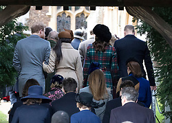 Meghan Markle joins The Royal Family as they attend Church on Christmas Day at St Mary Magdalene, Sandringham, Norfolk, UK, on the 24th December 2017. 25 Dec 2017 Pictured: Prince Harry, Meghan Markle, Catherine, Duchess of Cambridge, Kate Middleton, Prince William, Duke of Cambridge. Photo credit: MEGA TheMegaAgency.com +1 888 505 6342