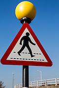 A predestrian walk sign, Tesco car park, Edmunton.