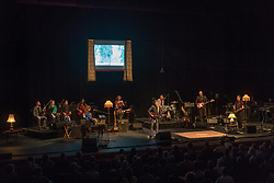 Field Music with the Open Here Orchestra performing live on stage at The Barbican in London. Photo date: Friday, May 25, 2018. Photo credit should read: Richard Gray/EMPICS