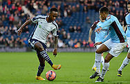Saido Berahino does a step over during the The FA Cup match between West Bromwich Albion and Gateshead at The Hawthorns, West Bromwich, England on 3 January 2015. Photo by Alan Franklin.