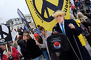 Together Against Trump, national demonstration on 4th June 2019 in London, United Kingdom. Thousands gather in central London to protest against Donald Trumps State Visit to London. Protesters demostrate against his alleged racism, mysogyny, climate denial and interference in British politics.