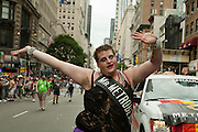 Mr. Metrobear Cub 2011, in the 2011 Pride Parade on New York's Fifth Avenue.