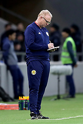 Scotland's manager Alex McLeish on the touchline during the UEFA Euro 2020 Qualifying, Group I match at the Astana Arena.