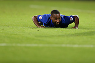 Junior Hoilett of Cardiff city looks on. .EFL Skybet championship match, Cardiff city v Sheffield Utd at the Cardiff City Stadium in Cardiff, South Wales on Tuesday 15th August 2017.<br /> pic by Andrew Orchard, Andrew Orchard sports photography.