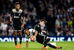 Lucas of Tottenham Hotspur challenges Nicolas Tagliafico of Ajax - Mandatory by-line: Robbie Stephenson/JMP - 30/04/2019 - FOOTBALL - Tottenham Hotspur Stadium - London, England - Tottenham Hotspur v Ajax - UEFA Champions League Semi-Final 1st Leg