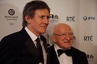 Gabriel Byrne with the Lifetime Achievement Award at the IFTA Film & Drama Awards (The Irish Film & Television Academy) at the Mansion House in Dublin, Ireland, Thursday 15th February 2018. Photographer: Doreen Kennedy