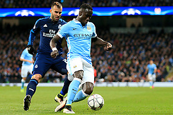 Bacary Sagna of Manchester City under pressure from Jese of Real Madrid  - Mandatory by-line: Matt McNulty/JMP - 26/04/2016 - FOOTBALL - Etihad Stadium - Manchester, England - Manchester City v Real Madrid - UEFA Champions League Semi Final First Leg