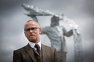 Andy Scott pictured at the official unveiling of Steel Man, his new sculpture made to commemorate those who lost their lives in the iron and steel industry in Scotland. The memorial was sited at Ravenscraig in Lanarkshire, on the site of Europe's largest former hot strip mill, which closed in 1992. The site was cleared in 1996 and now houses a sports centre, college and housing.