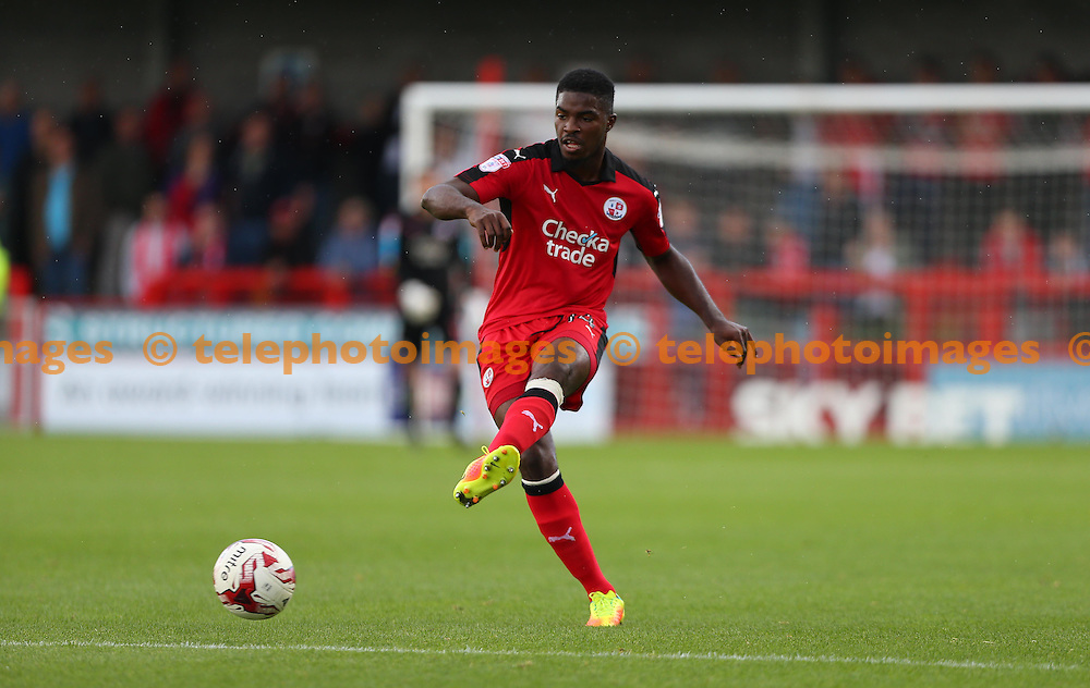 Crawley's Andre Blackman seen during the Sky Bet League 2 match between Crawley Town and Blackpool at the Checkatrade Stadium in Crawley. October 1, 2016.<br /> James Boardman / Telephoto Images<br /> +44 7967 642437