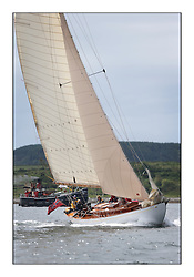 Day three of the Fife Regatta, Cruise up the Kyles of Bute to Tighnabruaich<br /> Solway Maid, Roger Sandiford, GBR, Bermudan Cutter, Wm Fife 3rd, 1940<br /> <br /> * The William Fife designed Yachts return to the birthplace of these historic yachts, the Scotland's pre-eminent yacht designer and builder for the 4th Fife Regatta on the Clyde 28th June–5th July 2013<br /> <br /> More information is available on the website: www.fiferegatta.com