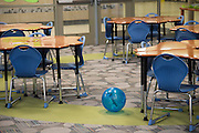 """A rat rolls through the library at Lorenzo De Zavala Environmental Science Academy in Grand Prairie, Texas on October 7, 2016. """"CREDIT: Cooper Neill for The Wall Street Journal""""<br /> PUBLICS"""