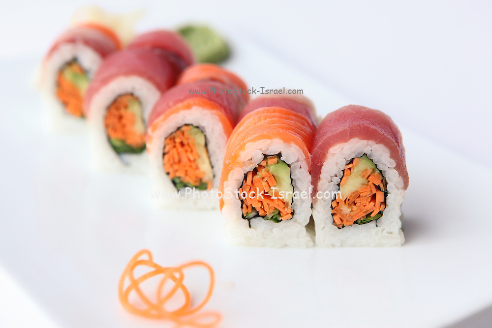 plate of Inside out Sushi