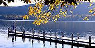 Lake George in the Adirondack Mountains of New York State, USA