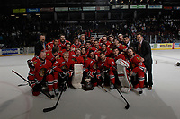 KELOWNA, CANADA - APRIL 25:  on April 25, 2014 during Game 5 of the third round of WHL Playoffs at Prospera Place in Kelowna, British Columbia, Canada. The Portland Winterhawks won 7 - 3 and took the Western Conference Championship for the fourth year in a row earning them a place in the WHL final.  (Photo by Marissa Baecker/Getty Images)  *** Local Caption ***