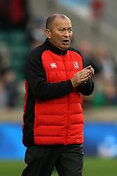 England head coach Eddie Jones (left) before the Autumn International at Twickenham Stadium, London.