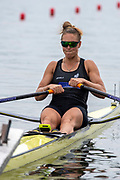 Poznan, POLAND, 21st June 2019, Friday, Morning Heats, NZL W1X, Emma TWIGG, FISA World Rowing Cup II, Malta Lake Course, © Peter SPURRIER/Intersport Images,<br /> <br /> 11:56:57