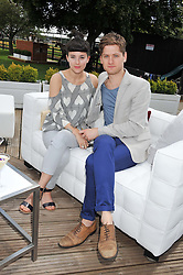 KYLE SOLLER and PHOEBE FOX at the Audi International Polo Day held at Guards Polo Club, Smith's Lawn, Windsor on 22nd July 2012.