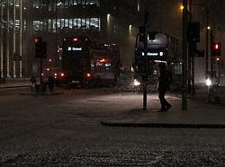 Heavy snow fell in Edinburgh today.<br /> <br /> Alex Todd | EEm
